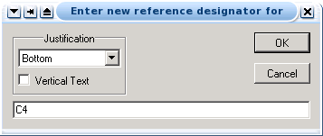 enter new reference window