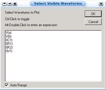 visible waveforms window
