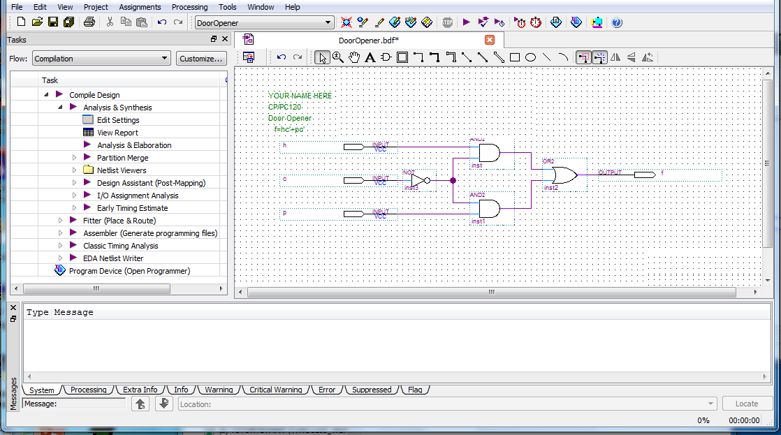 Introduction To Quartus Ii Software  Using The Modelsim Vector Waveform Editor