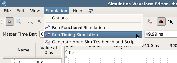 assign simulation settings