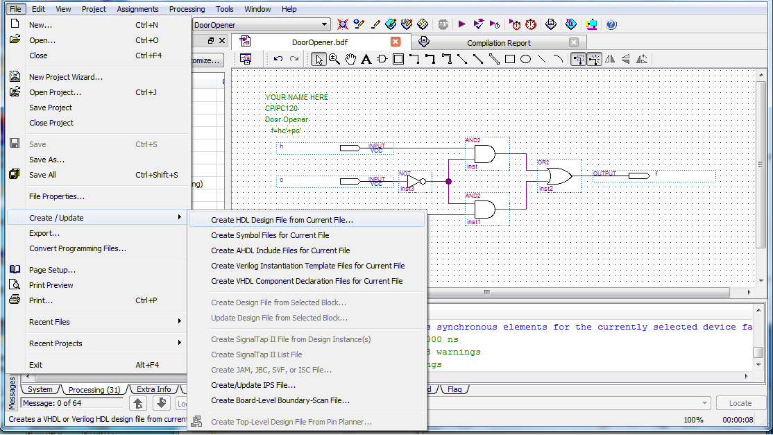 introduction to quartus ii software rh denethor wlu ca Problem Solution Diagram Quartus 13.1