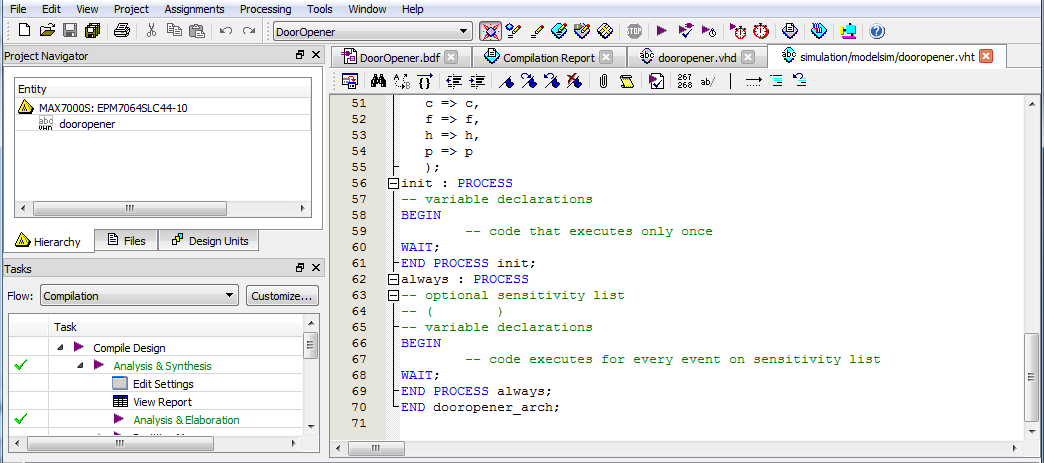 Add The Testbench Vhdl File To The Project And Compile For